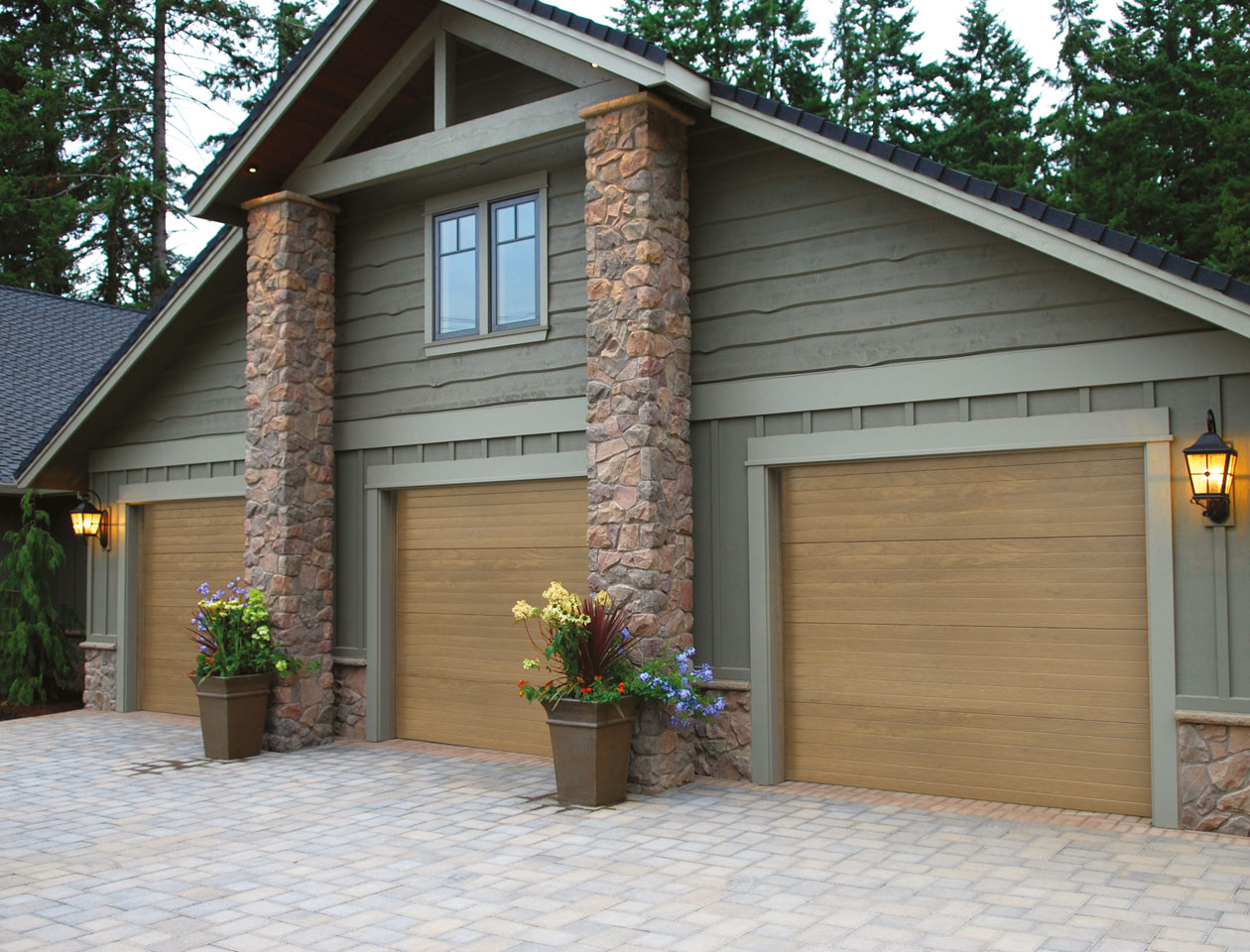 three-garage-doors